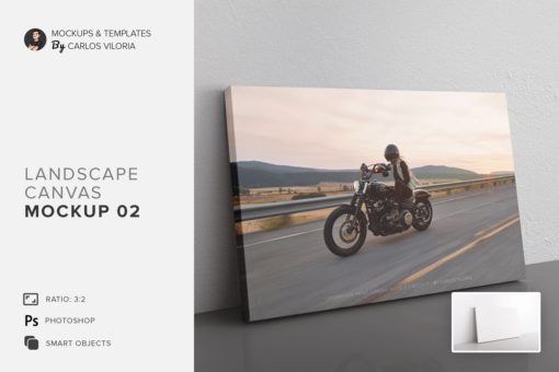 Landscape Canvas Ratio 3x2 Mockup 02