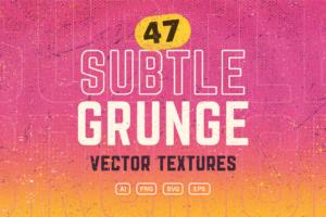 47 Vector Subtle Grunge Textures