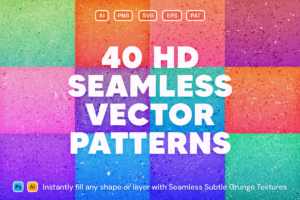 40 Seamless Vector Grunge Patterns