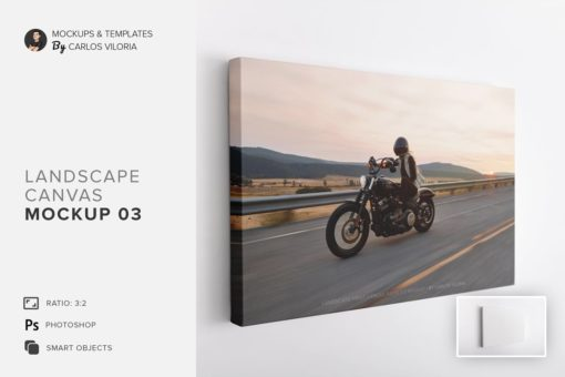 Landscape Canvas Ratio 3x2 Mockup 03