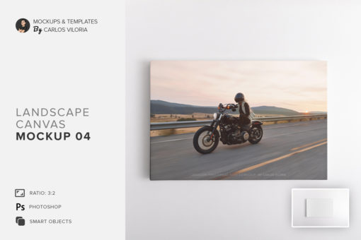 Landscape Canvas Ratio 3x2 Mockup 04