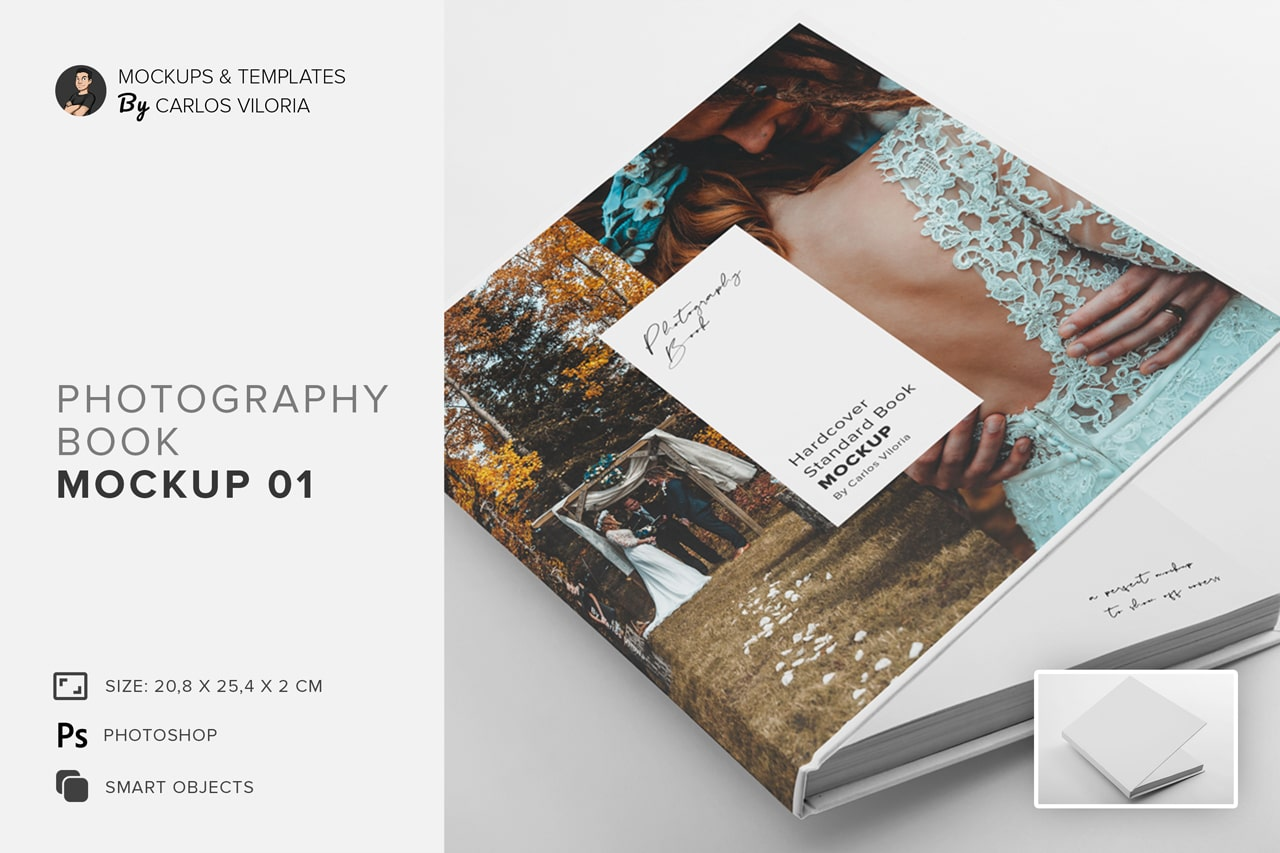 hardcover photo book mockup 01
