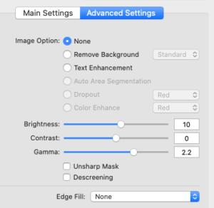 Epson Scan advanced settings - FilterGrade