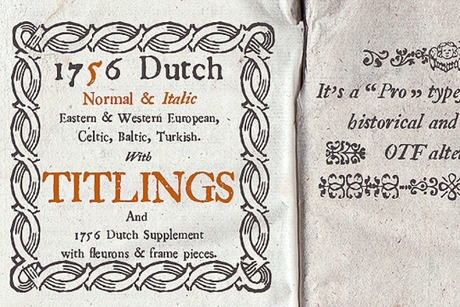 1700s dutch type