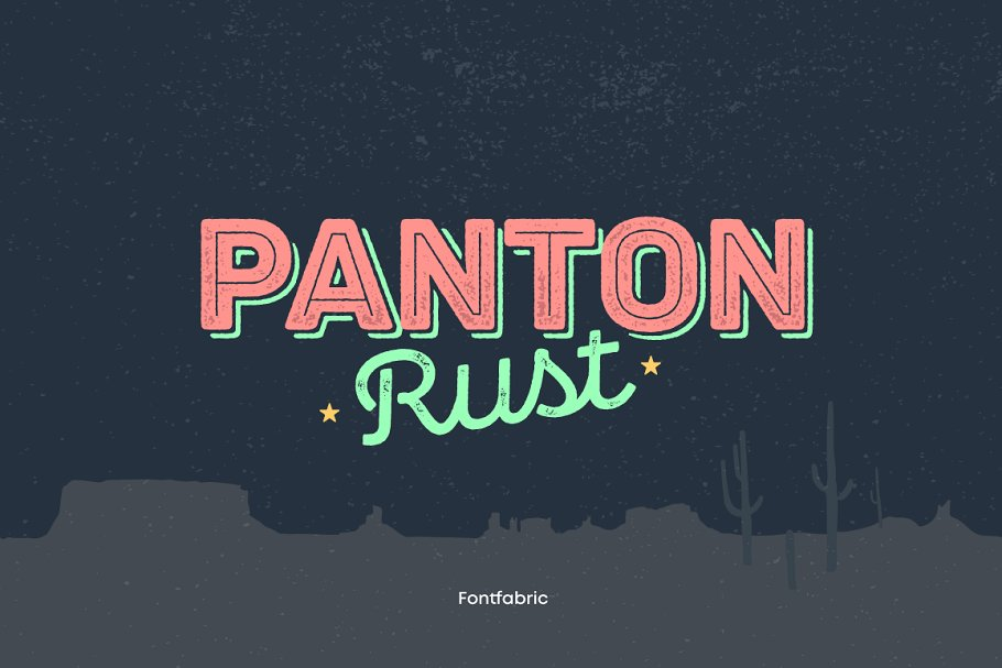 panton rust font
