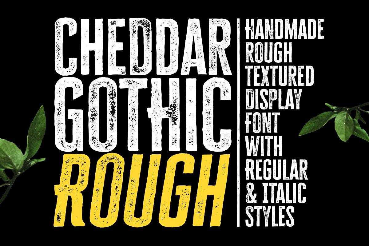cheddar rough font