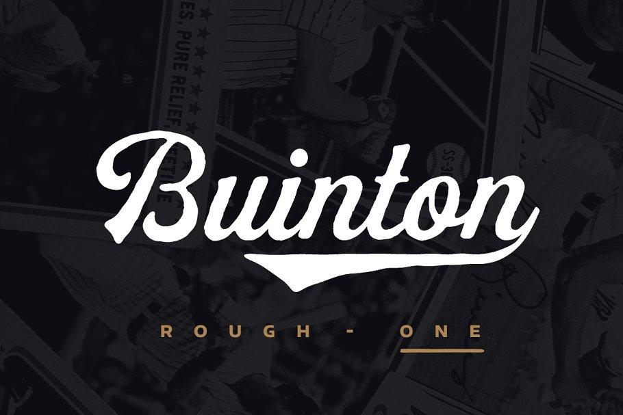 buinton rough font
