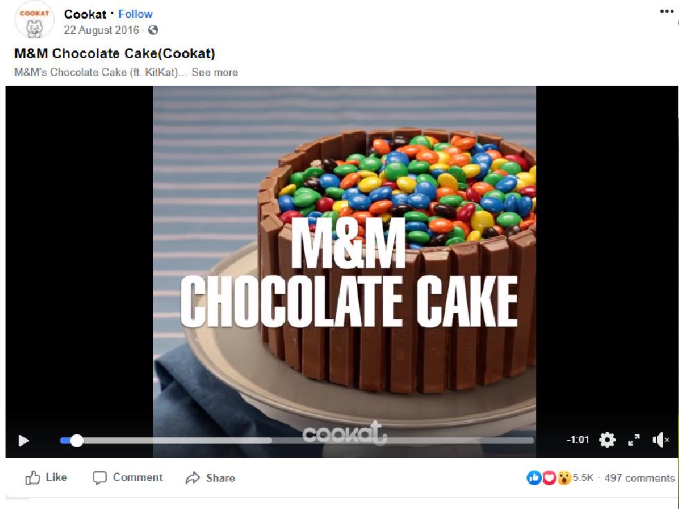 m&m chocolate cake video