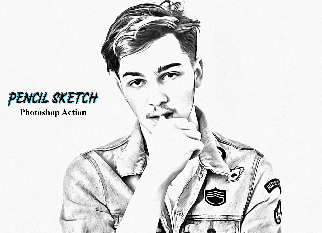Pencil Sketch Photoshop Action   FilterGrade
