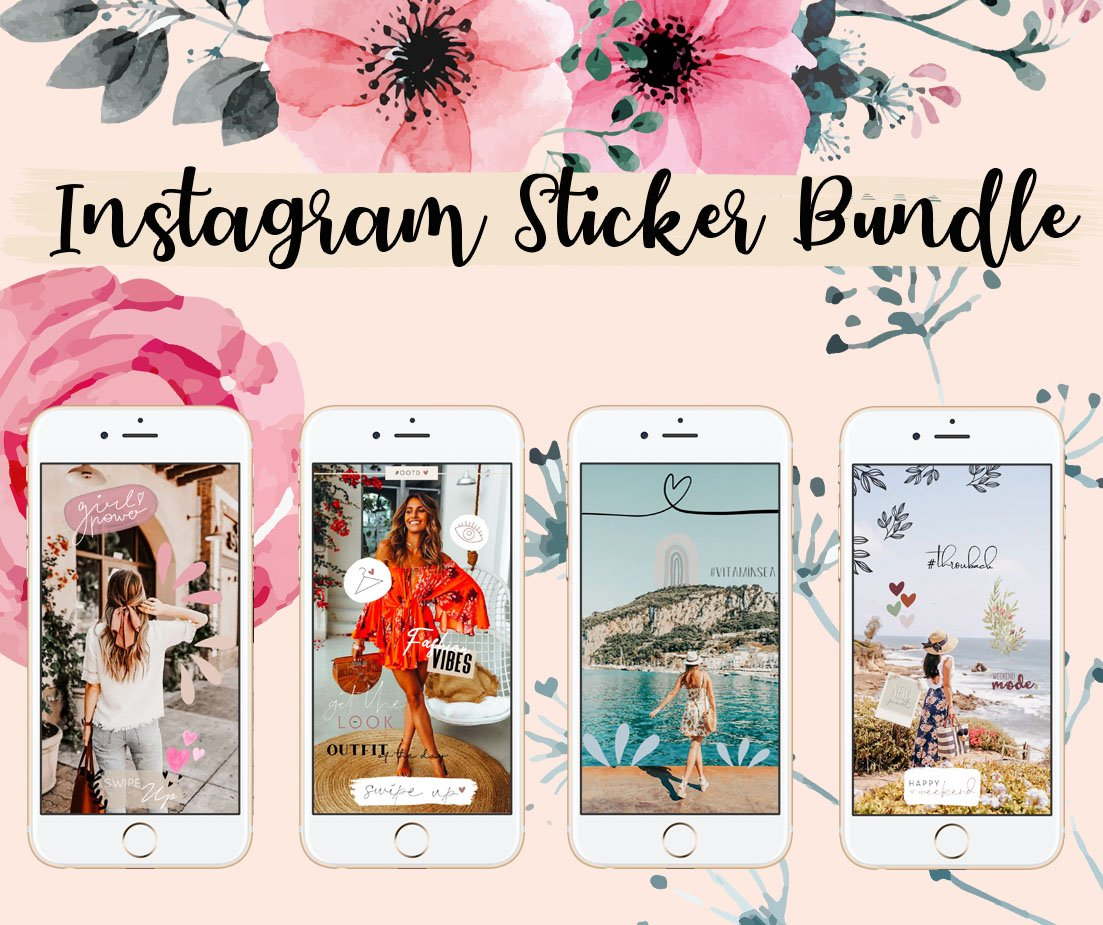 instagram sticker bundle