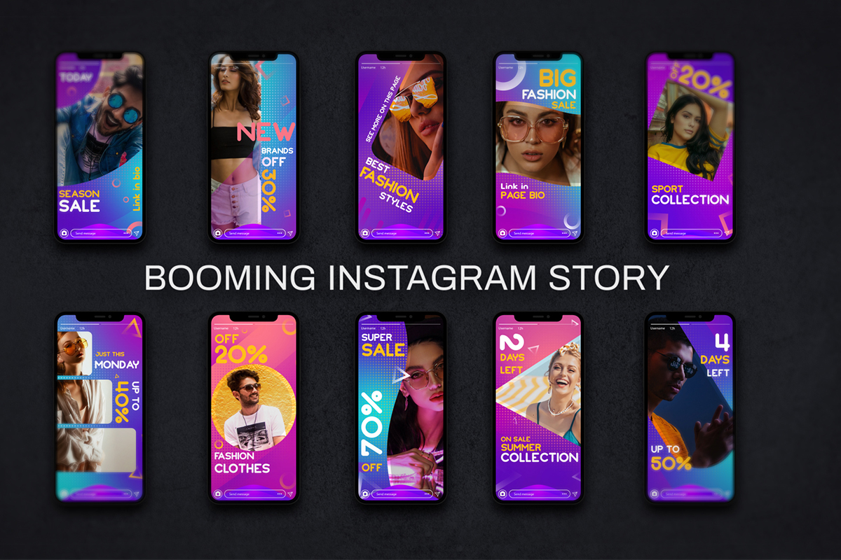 booming instagram story templates