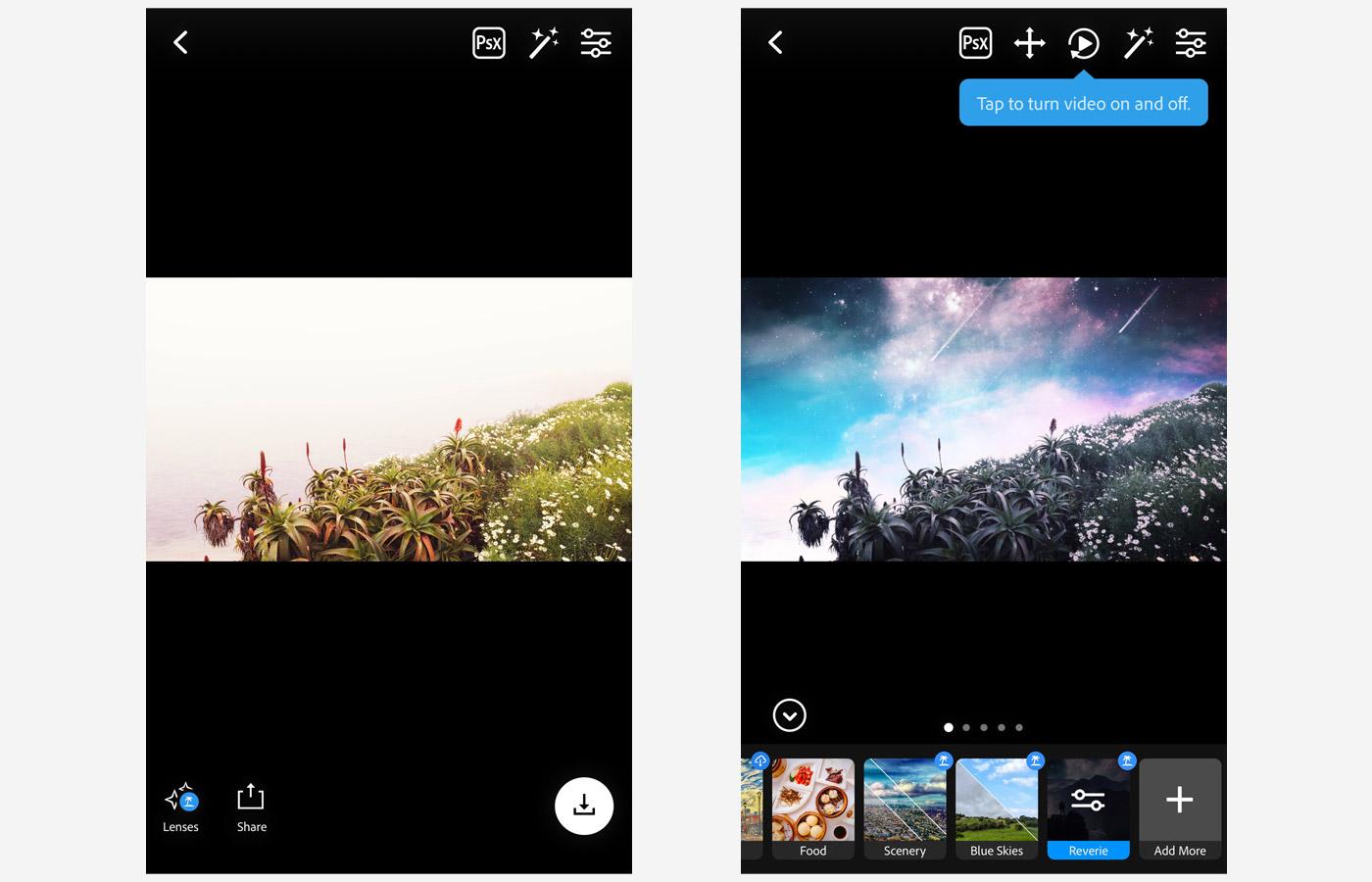 reverie lens ps camera app