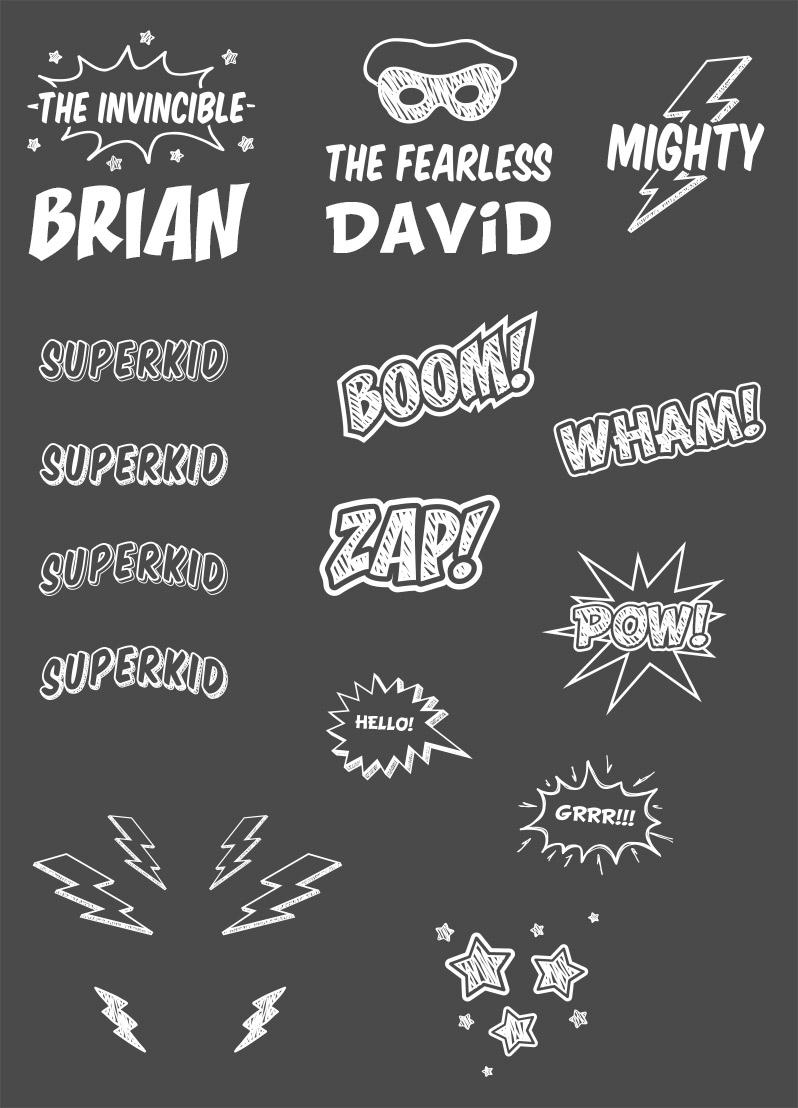 Comic Book and Superhero Photo Overlays