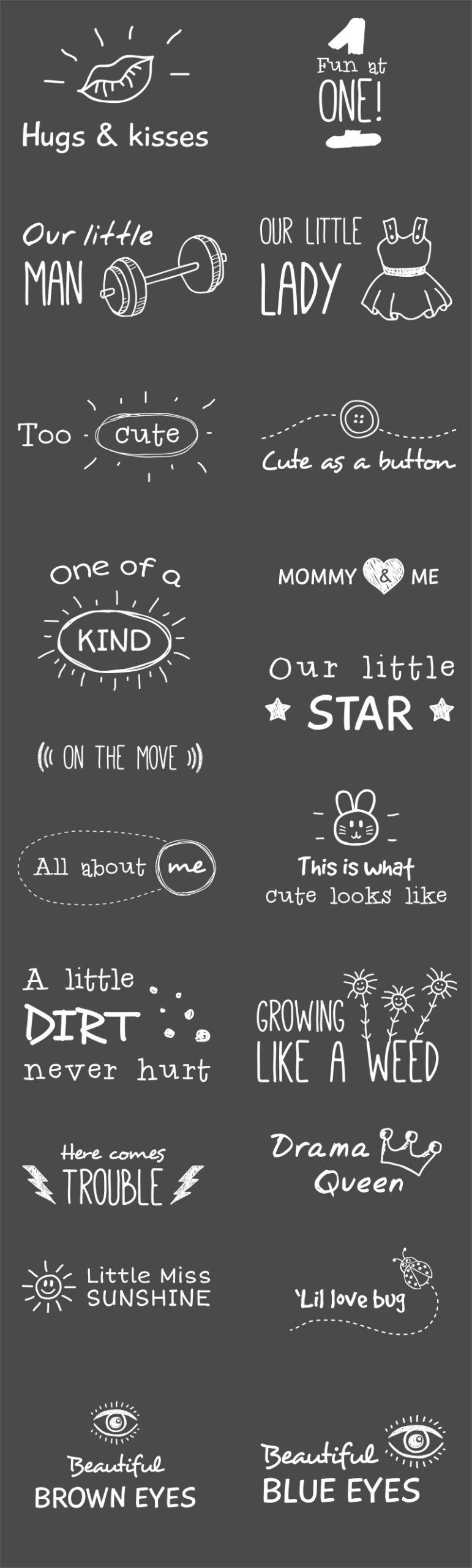 Creative Toddler Photo Overlays