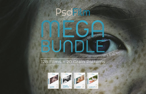 PsdFilm Film Emulation Photoshop Actions MEGA BUNDLE | 125+ Films
