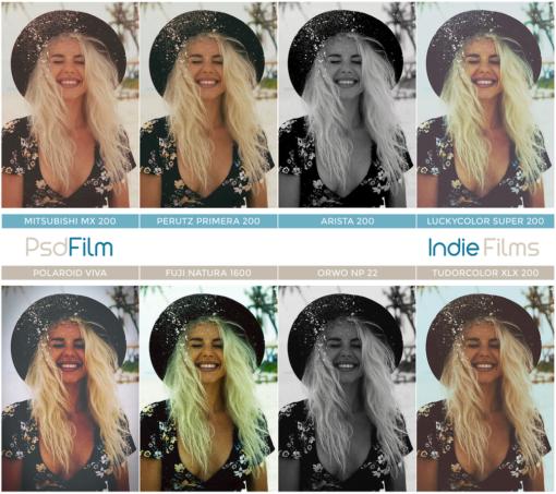 indie films photoshop actions film emulation