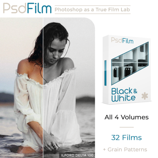 BLACK-WHITE Films Emulation Photoshop Actions by PsdFilm