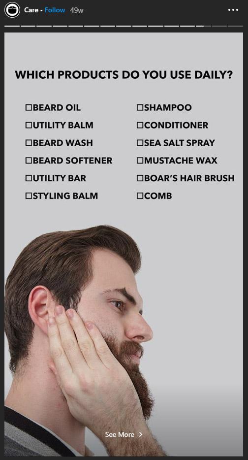 beardbrand interactive ig story