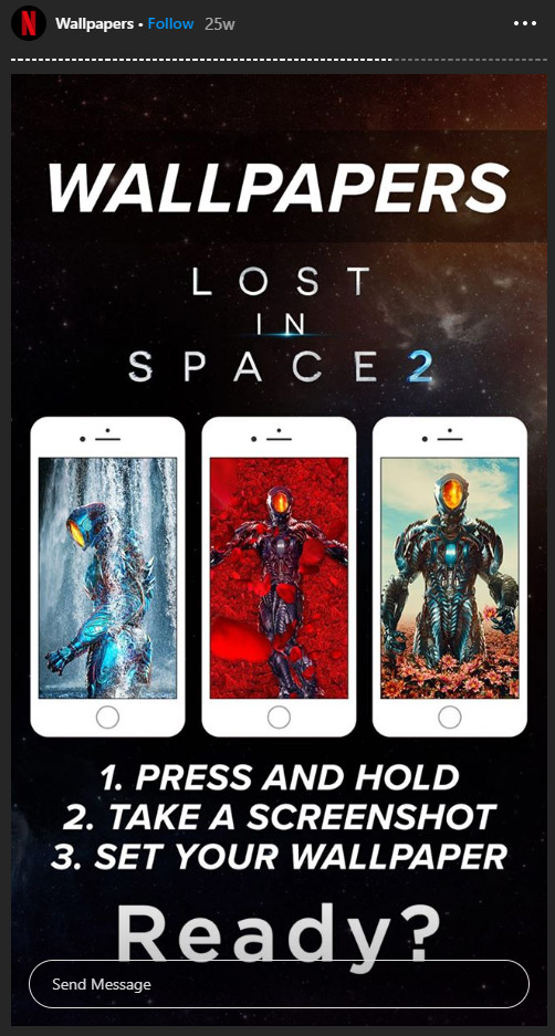 lost in space netflix wallpapers instagram story
