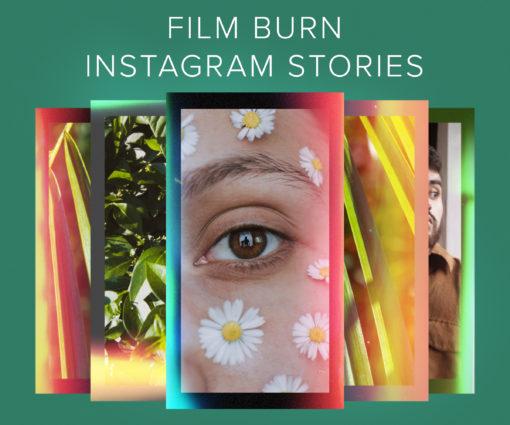 Film Burn Instagram Stories for Photoshop