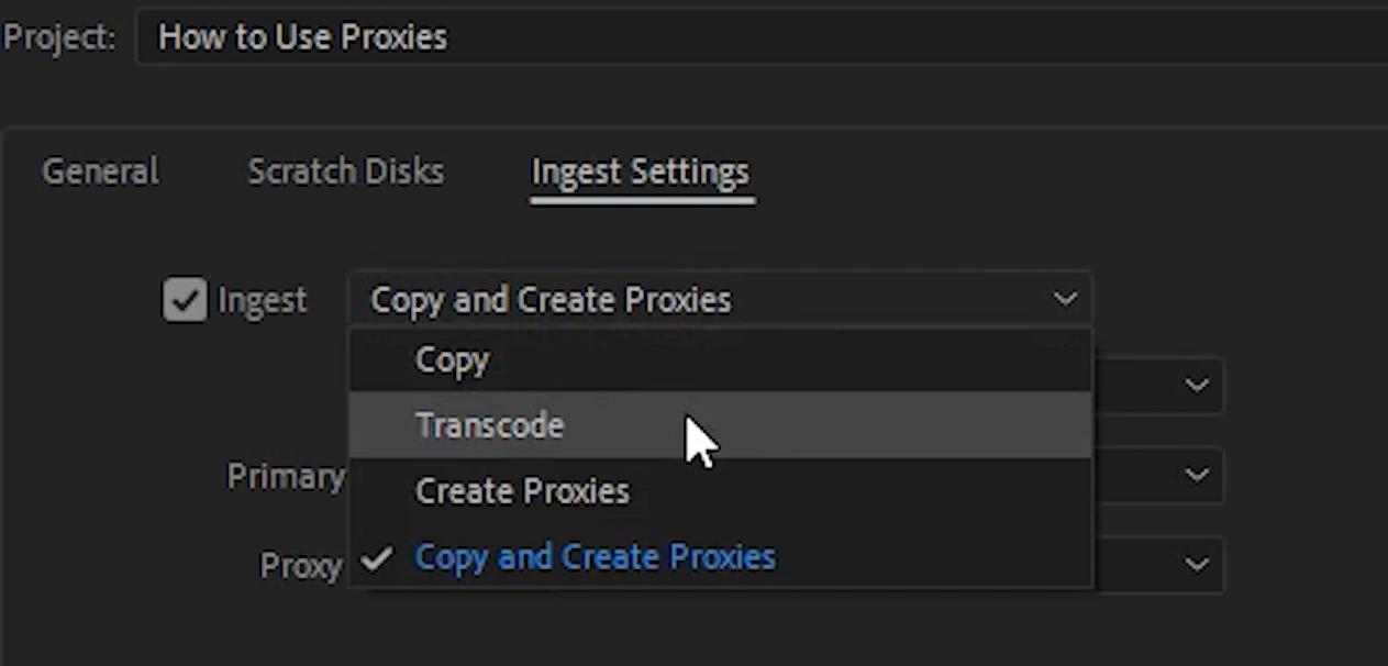 enable proxies premiere pro