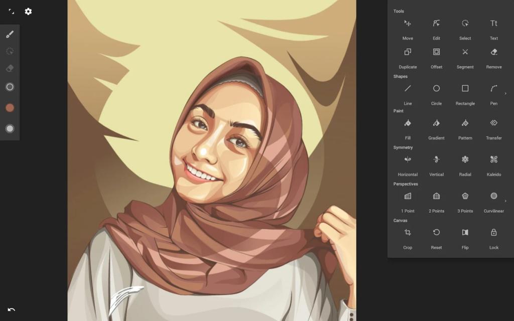 infinite design drawing app screenshot
