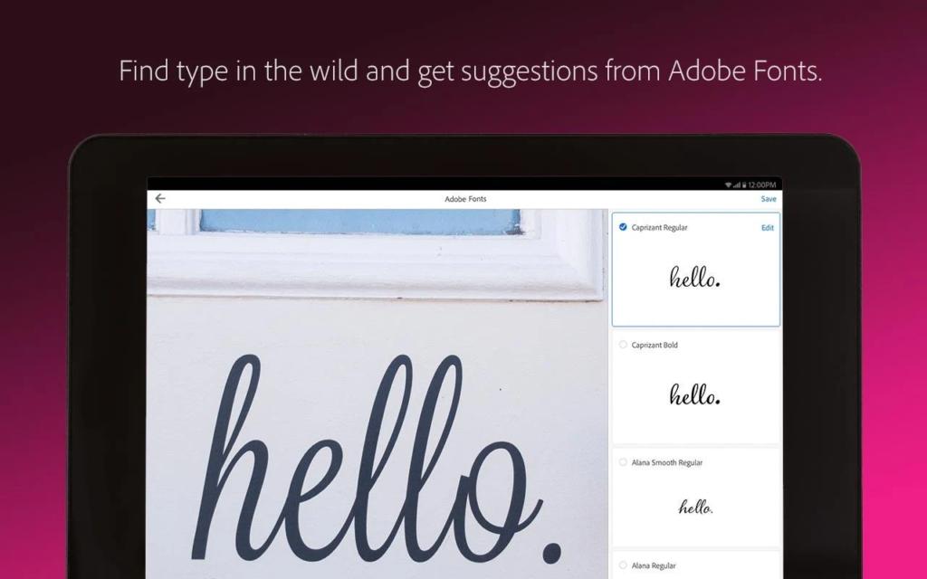 adobe capture app screenshot