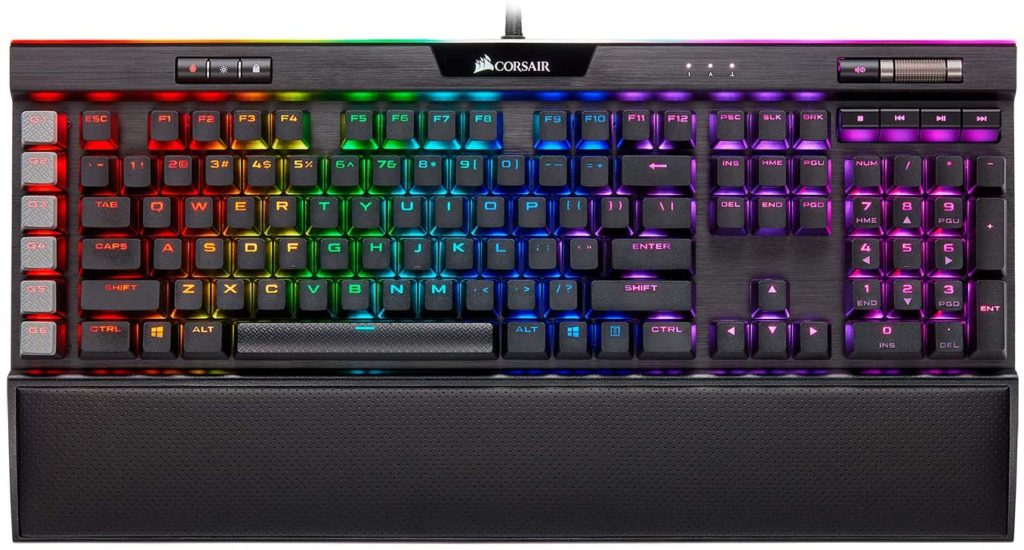 corsair k95 keyboard with dedicated keys for macros
