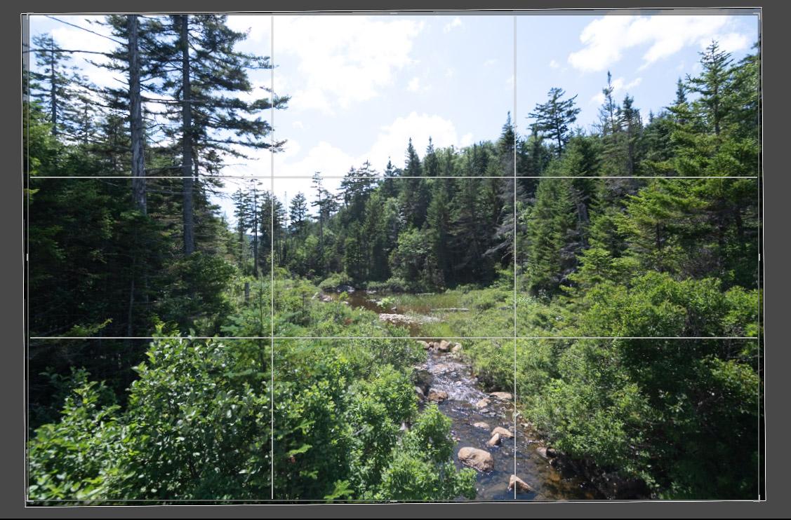 cropping landscape photos in lightroom