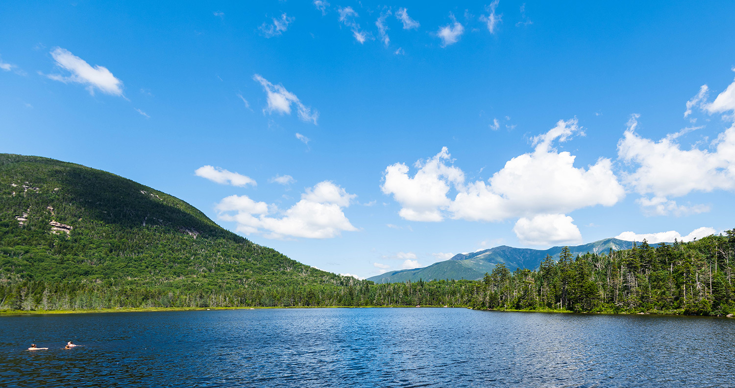 lonesome lake views in New Hampshire
