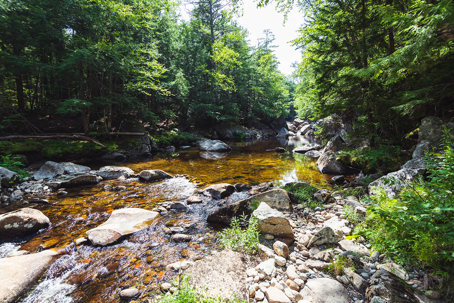 mountain rivers in New Hampshire