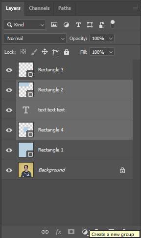 how to group layers in photoshop