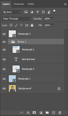 layer groups indented in photoshop