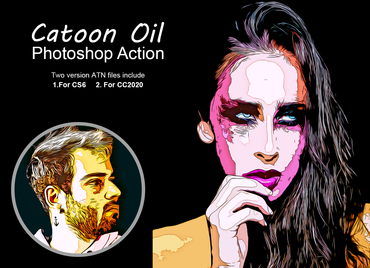 Cartoon Oil Photoshop Action Filtergrade