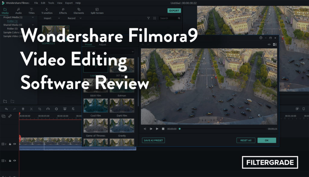 Wondershare Filmora9 Video Editing Software Review