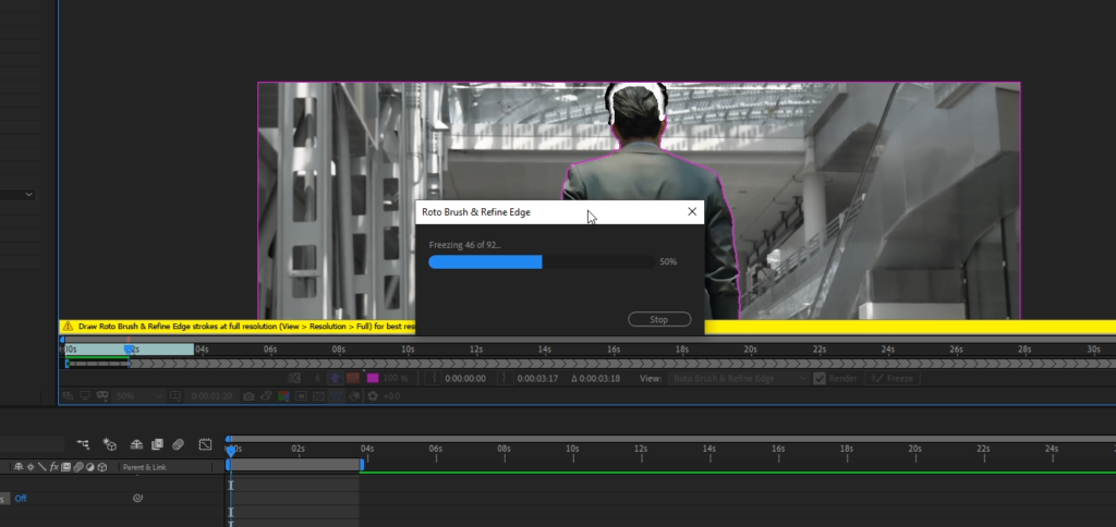 after effects roto brush 2 exporting