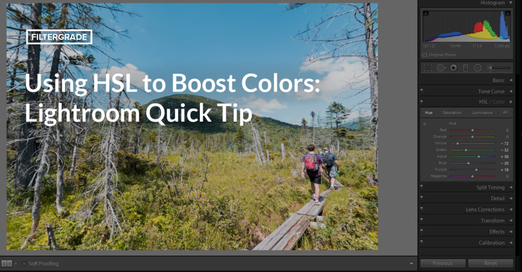Using HSL to Boost Colors: Lightroom Quick Tip
