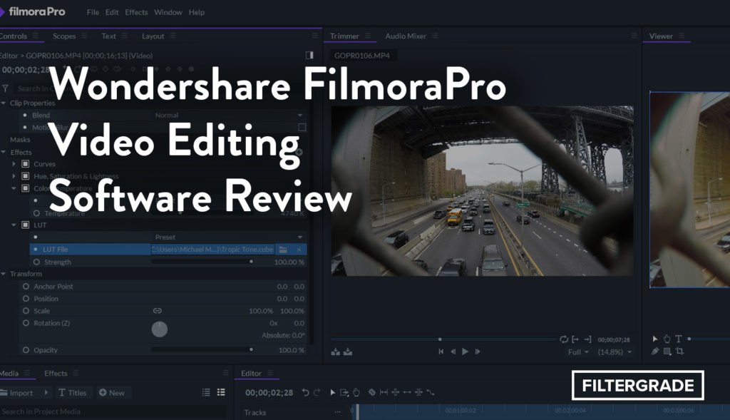 Wondershare FilmoraPro Video Editing Software Review