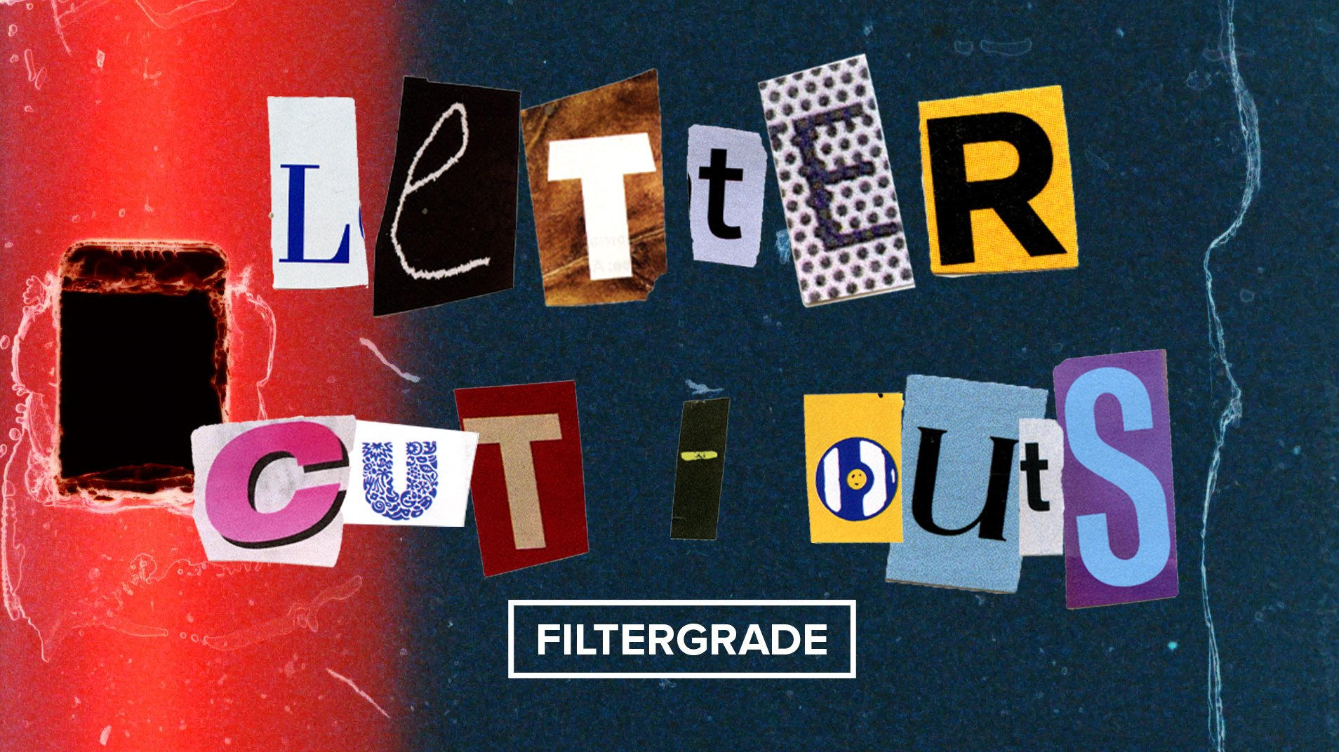 letter cut outs video overlays for editors