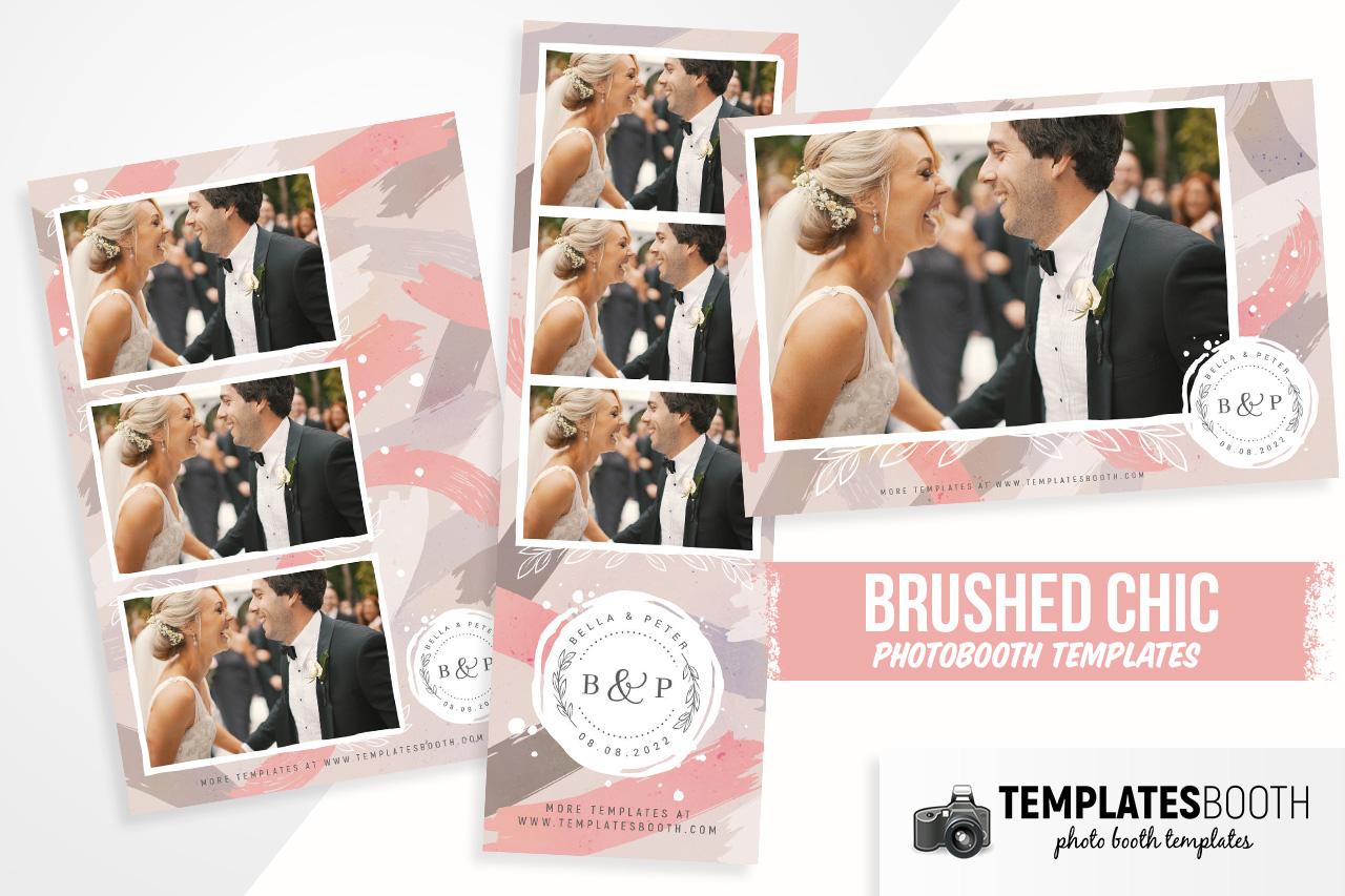 brushed chic photobooth templates