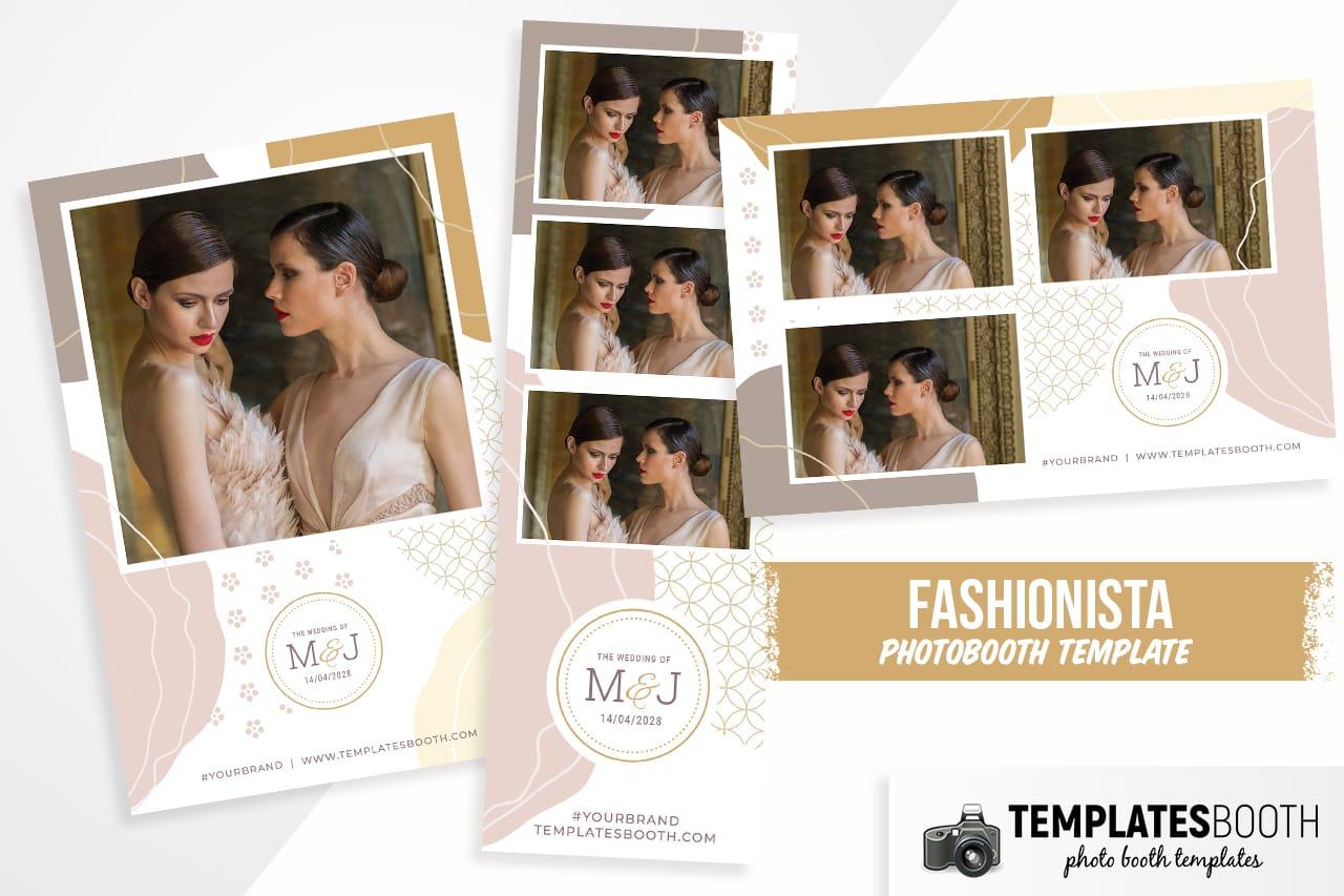 fashionista photobooth template