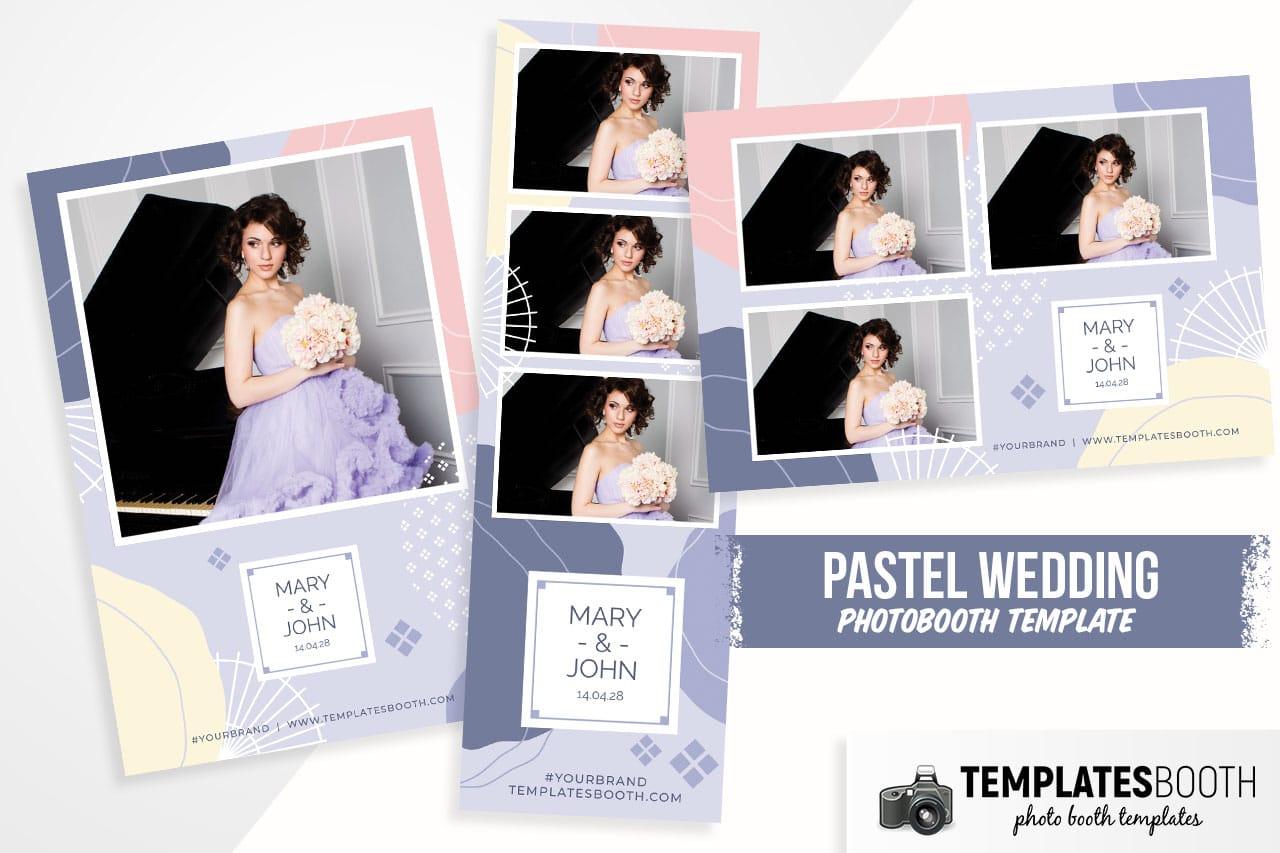 pastel wedding photobooth template