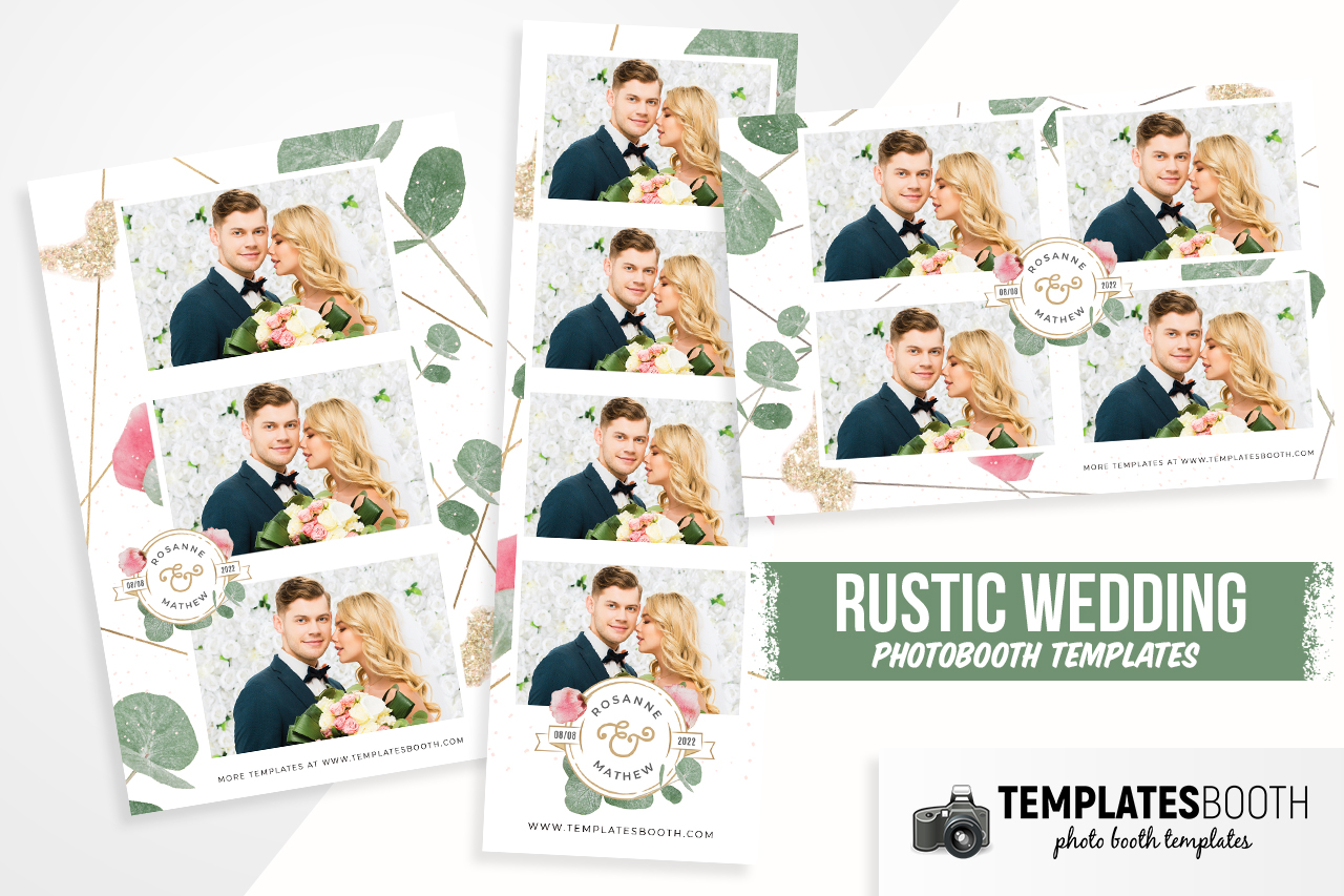 rustic wedding photobooth template