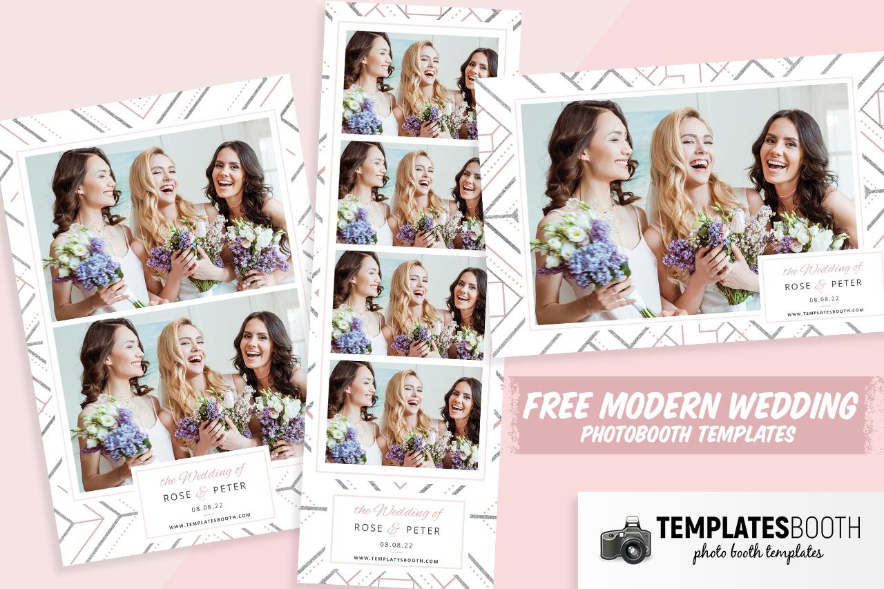 free modern wedding photo booth designs psd