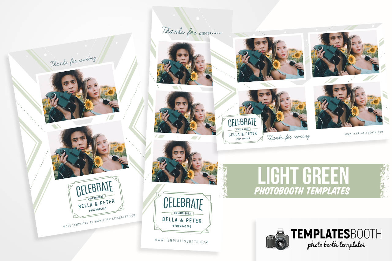 photoshop template for photobooth light green chill