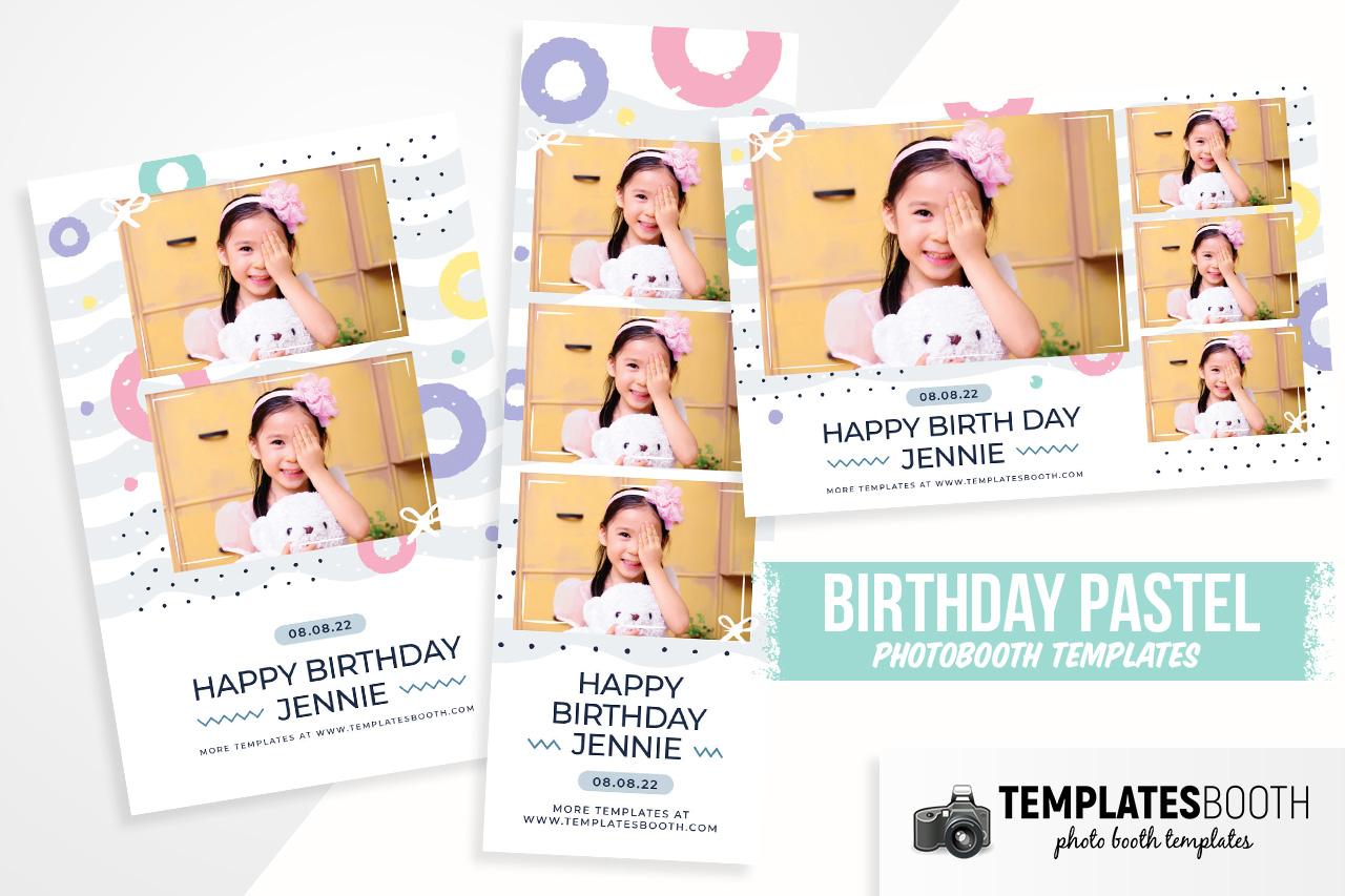 birthday pastel photobooth template