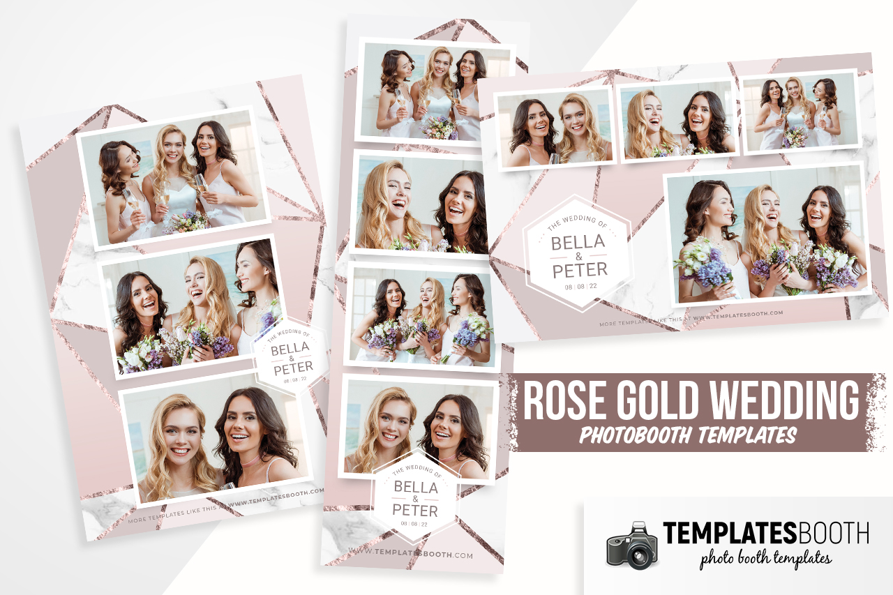 rose gold photobooth template