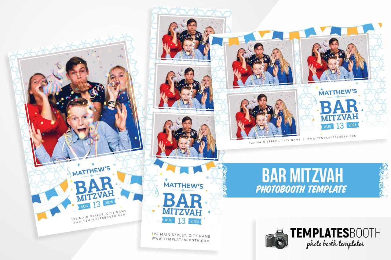bar mitzvah template for photo booth