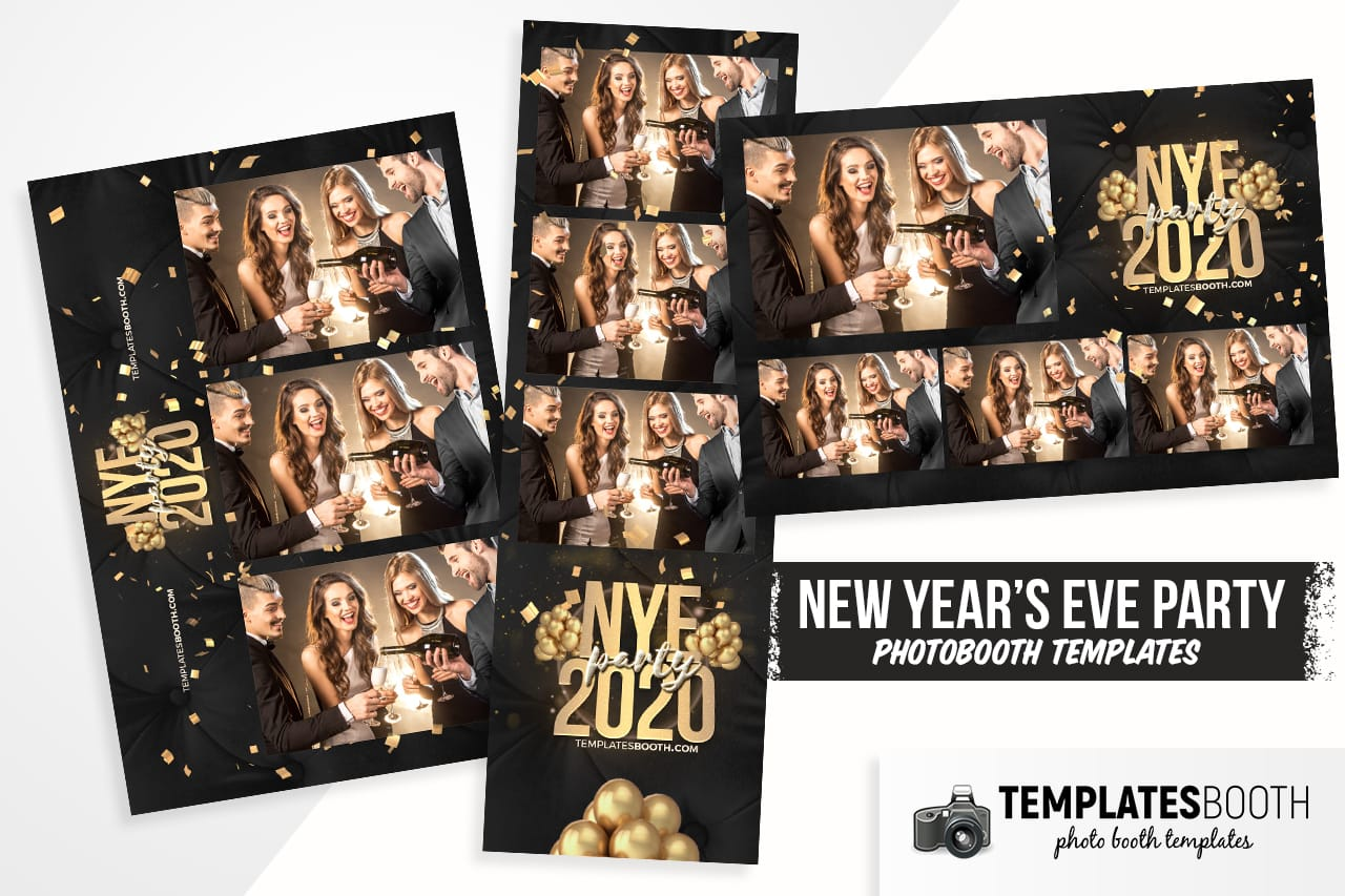 new year's eve party template for photo booth