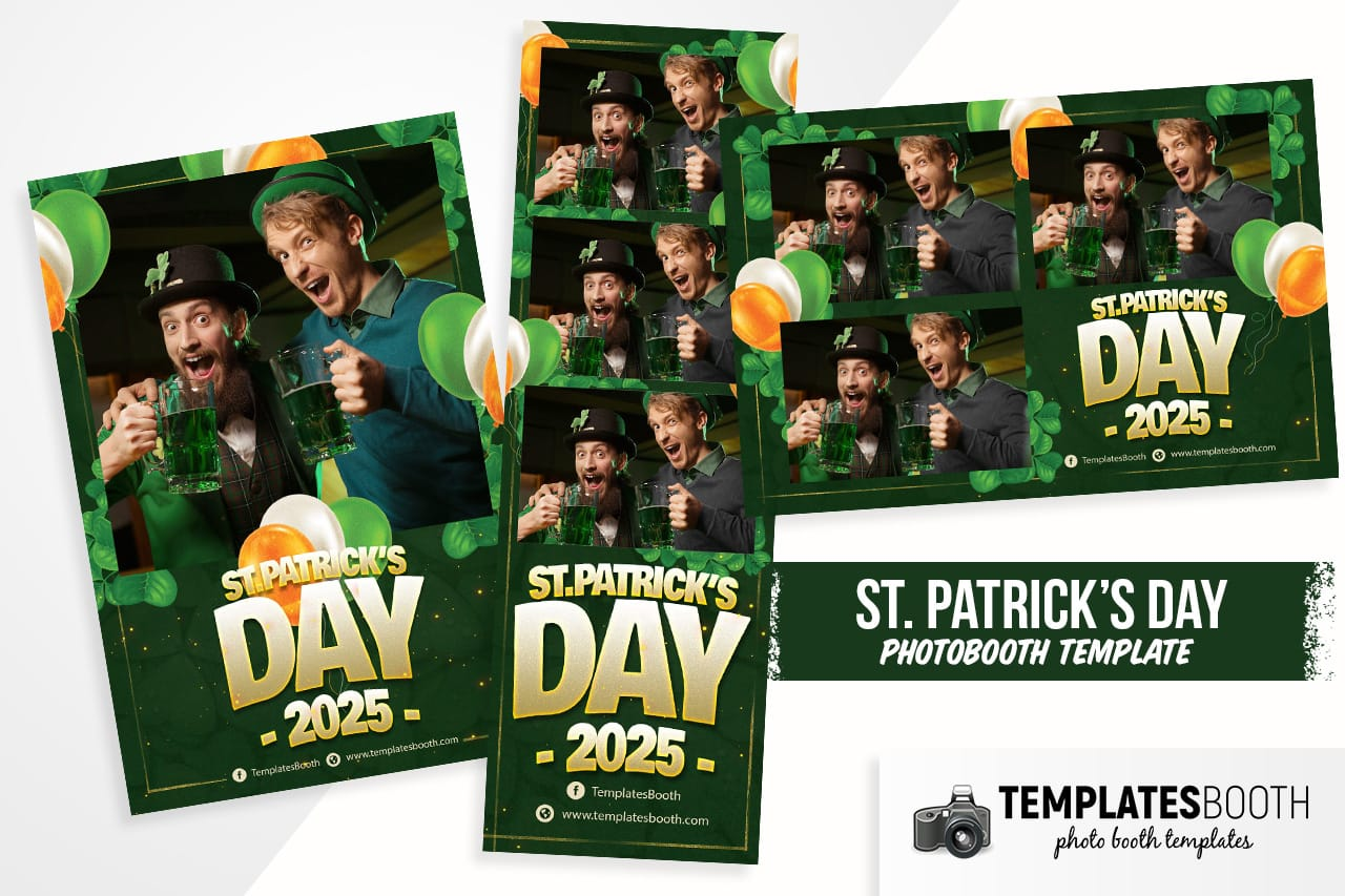 st. patrick's day photo booth templates